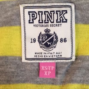 PINK Victoria's Secret Tops - PINK Striped Graphic Tank